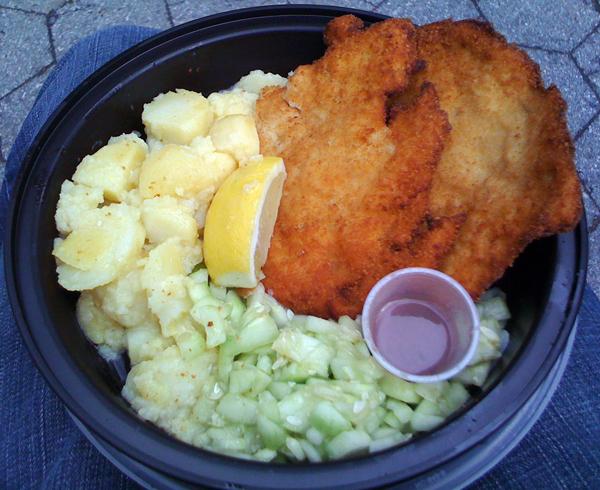 chicken schnitzel platter